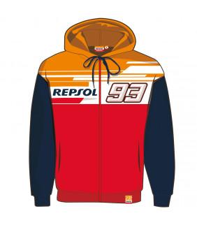 Sweat a Capuche Zip Repsol Dual MM93 Officiel MotoGP Marc Marquez