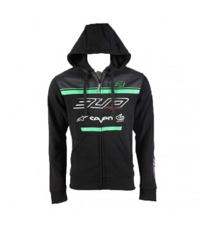 Sweat a capuche zip Bud Racing Team Officiel Homme