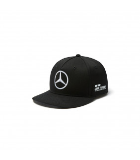 Casquette Mercedes-AMG Petronas Motorsport Team F1 Driver Race Lewis Hamilton Flatbrim Noir