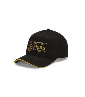 Casquette HAAS F1 Racing Team Noir/Or