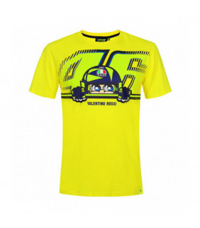 Tee-Shirt VR46 Valentino Rossi Logo mascotte Cupolino