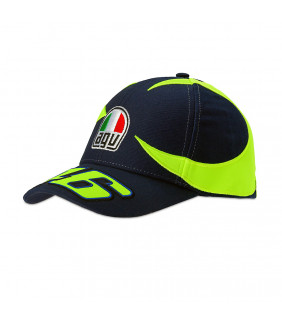 Casquette réplique du casque Soeil et Lune de VR46 Valentino Rossi Moto GP