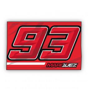 Drapeau Marc Marquez MM93 Moto GP Logo Numero 93