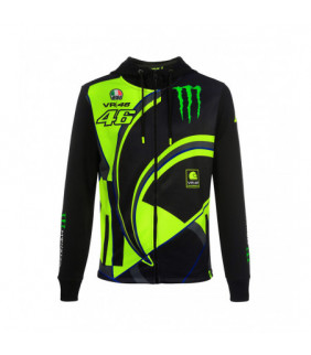 Sweat VR46 zippé à Capuche Réplica Sponsor Monster Energy
