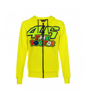 Sweat à capuche zippé VR46  The Doctor Moto GP