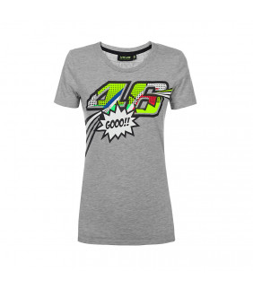 Tee-shirt Pop Art Femme Valentino Rossi VR46 MotoGP