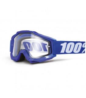 Masque Accuri Enduro 100% - Reflex blue //  écran dual clair
