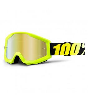 Masque Strata 100% - Neon yellow //  écran teinté