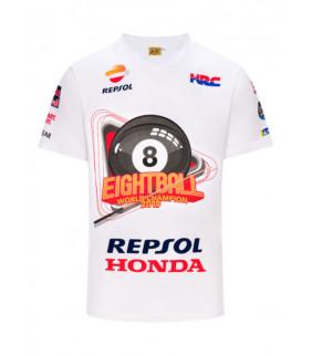"T-shirt Champion du monde ""EightBall"" MM93 homme Officiel MotoGP"