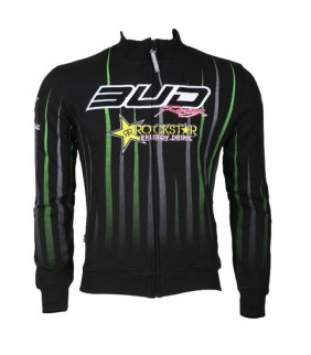 Sweat a Capuche Homme Bud Racing RockStar Energy