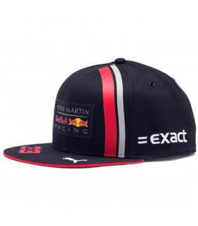 Casquette Plate F1 Racing Formula Team Red Bull Replica Max Verstappen formule 1