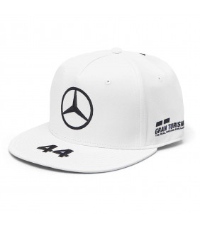 Casquette Plate Mercedes-AMG Petronas Motorsport Team F1 Driver Lewis Hamilton 44 Formule 1