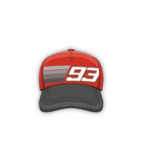 Casquette Homme Plate MM93 Stripe 93 Officiel MotoGP Marc Marquez