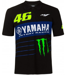 Polo Homme VR46 Yamaha M1 Dual Monster Energy Officiel MotoGP Valentino Rossi