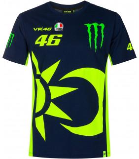 T-shirt Homme VR46 Soleil/Lune Dual Monster Energy Officiel MotoGP Valentino Rossi