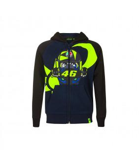 Sweat à Capuche Zip Enfant VR46 Soleil/Lune Carenage Officiel MotoGP Valentino Rossi