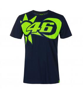 T-shirt Homme VR46 Soleil/Lune Officiel MotoGP Valentino Rossi