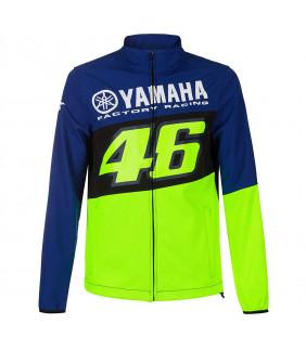 Veste Softshell Homme VR46 Yamaha Factory M1 Racing Officiel MotoGP Valentino Rossi