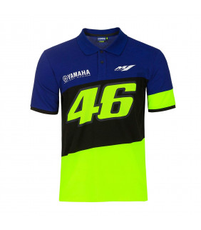 Polo Homme VR46 Yamaha Factory M1 Racing Officiel MotoGP Valentino Rossi