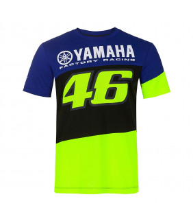 T-shirt Homme VR46 Yamaha Factory M1 Racing Officiel MotoGP Valentino Rossi