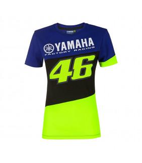 T-shirt Femme VR46 Yamaha Factory M1 Racing Officiel MotoGP Valentino Rossi