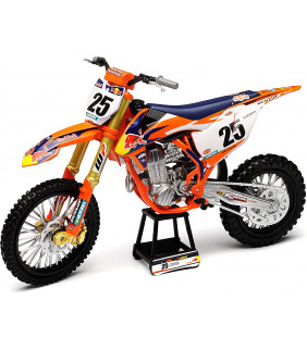 Moto Miniature New Ray KTM 450 SX-F Marvin Musquin Nr 25 Red Bull Supercross 1/10 Modell