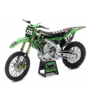 Moto Miniature New Ray 450 KXF Bud Racing Brian Moreau 1/12 ème