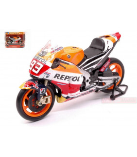 Moto Miniature Newray MM93 Honda Repsol Team - Honda Rc213V - Marc Marquez N°93 Officiel MotoGP 1: 12
