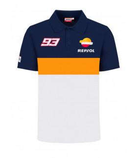 Polo Homme Repsol Honda Racing Dual Marc Marquez Officiel MotoGP MM93