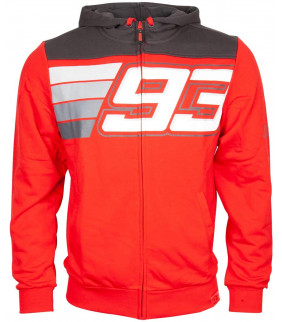 Sweat a Capuche Zip Homme Marc Marquez Bicolor Stripe MM93 Officiel MotoGP