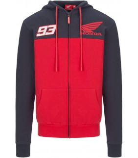Sweat a Capuche Zip Homme Yoke HRC Racing Dual MM93 Officiel MotoGP