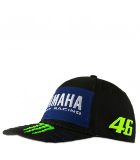 Casquette Homme VR46 Yamaha M1 Dual Monster Energy Officiel MotoGP Valentino Rossi