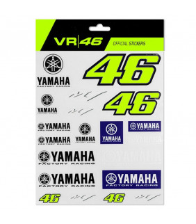 Stickers VR46 Yamaha M1 Racing Officiel MotoGP Valentino Rossi