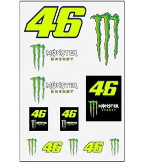 Stickers VR46 Monster Energy Officiel MotoGP Valentino Rossi