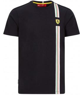 Tshirt Homme Ferrari Scuderia Team Officiel Classic F1 Drapeau Italien
