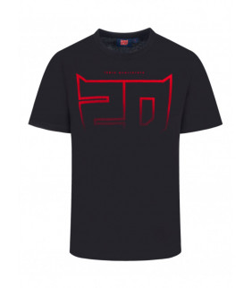 T-shirt Homme Fabio Quartararo 20 El Diablo Dégradé Officiel MotoGP