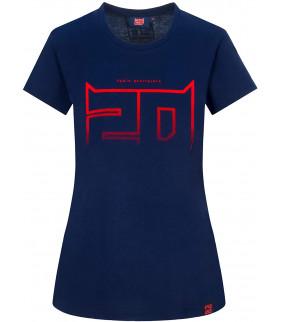 T-shirt Femme Fabio Quartararo 20 El Diablo Big 20 Officiel MotoGP
