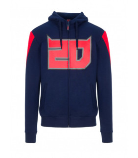 Sweat a Capuche Zip Homme Fabio Quartararo 20 El Diablo Big 20 Officiel MotoGP