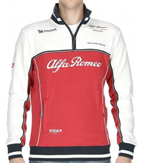 Sweat Zip Homme ALFA ROMEO Formule 1 Officiel Team F1 Racing