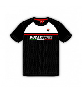 T-shirt Ducati Corse Homme Contrast Yoke Noir