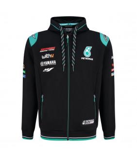 Sweat a Capuche Zip Homme Yamaha Petronas Team Officiel MotoGP