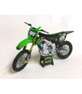 Moto Miniature New Ray 450 KXF Bud Racing Brian Moreau 1/12 ème