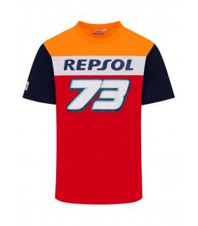 T-shirt Homme Alex Marquez Honda Repsol Racing Big 73 Officiel MotoGP