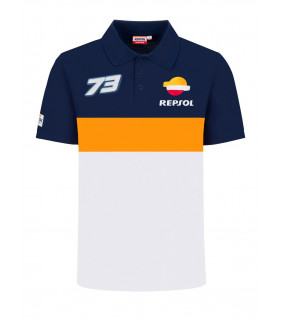 Polo Homme Alex Marquez 73 Honda Repsol Racing Officiel MotoGP