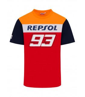 T-shirt Homme Honda Repsol Dual Marc Marquez 93 Big 93 Officiel MotoGP