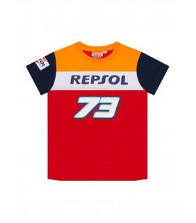 T-shirt Enfant Honda Repsol Racing Dual Alex Marquez 73 Big 73 Officiel MotoGP
