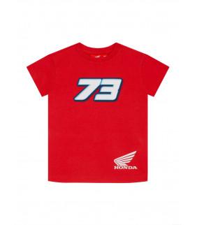 T-shirt Enfant HRC Honda Racing Dual Alex Marquez 73 Officiel MotoGP