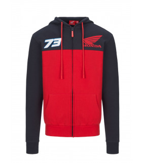 Sweat a Capuche Zip Homme Honda HRC Racing Dual Alex Marquez 73 Officiel MotoGP