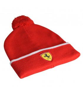 Bonnet Enfant Pompon Ferrari Scuderia F1 Team Officiel Formule 1