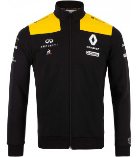 Sweat-shirt Homme Zip Renault Team Le Coq Sportif F1 Racing Officiel Formule 1